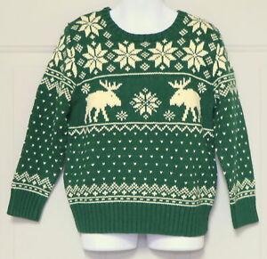 0ad1c6d25 POLO RALPH LAUREN BOYS GREEN PULL OVER HOLIDAY SWEATER SNOWFLAKE ...