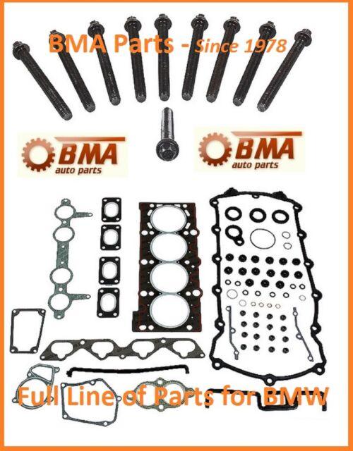 BMW E30 E36 318i 318iC 318is M42 Head Gasket Set w/head bolts - OEM Reinz