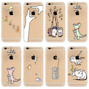Silicona-TPU-Gel-Funda-Carcasa-Case-Cover-Para-Apple-iPhone-5-5S-SE-6-6s-7-plus