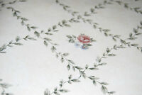 Westchester Diamond Leaf Pattern W/ Pink & Orange Flowers Wallpaper Roll [w1029]