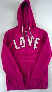 Old-Navy-Hoodie-Jacket-Womens-XS-Love-San-Francisco-California-Hipster-Light