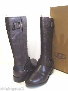 ba9febd2aa4 UGG DAMIEN WOMEN TALL BOOTS LEATHER LODGE US 9  UK 7.5  EU 40