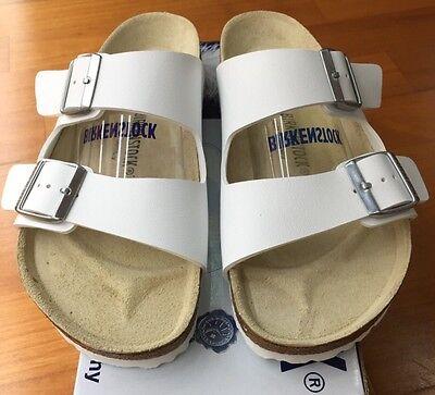 Birkenstock Arizona 051731 Size 43L12M10 R Birko Flor White Sandals 4013871024521   eBay