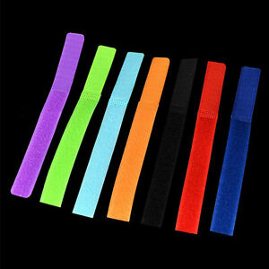 50pcs Reusable Cord Winder Band Nylon Cable Ties Strap Wire Fastener Organiser