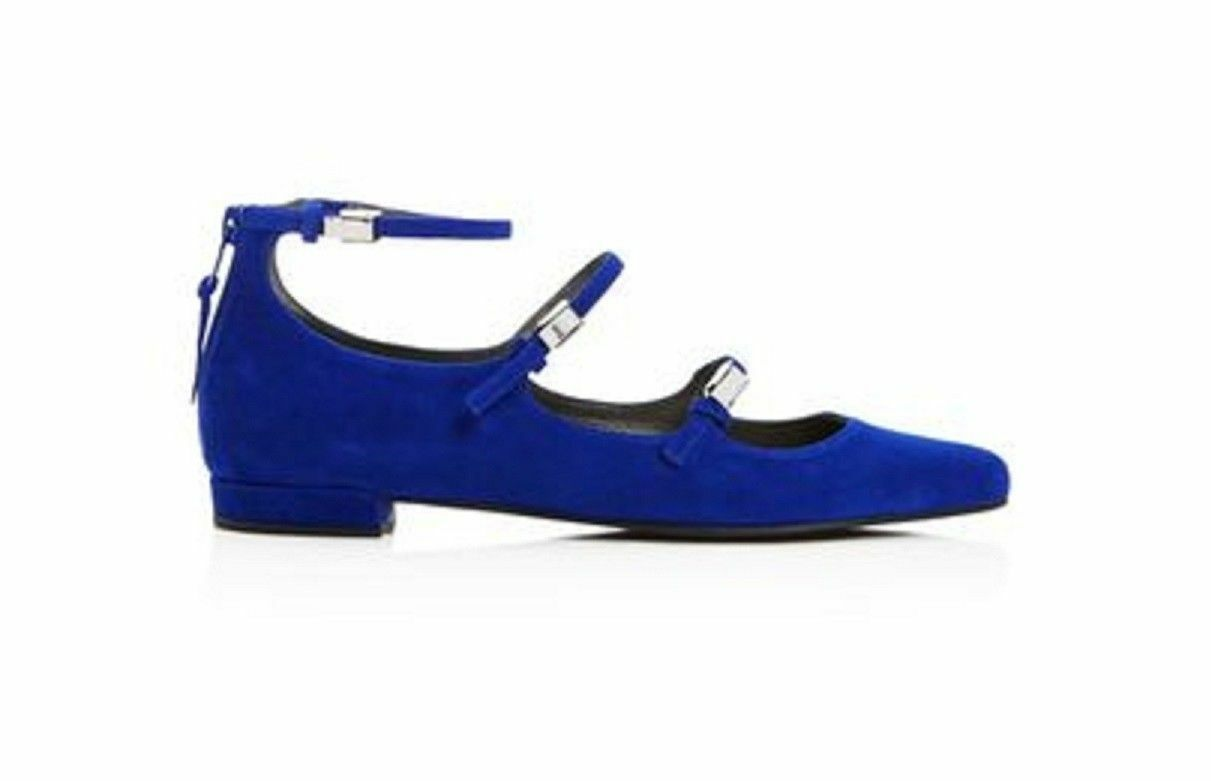 New New New  398 Stuart Weitzman Flippy Electric Suede bluee Ballet Flats shoes Size 6.5 1cd4b9