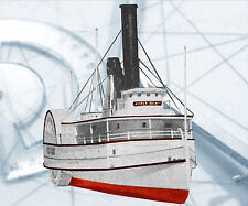 "Model Boat PLAN 31"" River Boat Paddle wheeler R/C F/S Printed Plans & Build note"