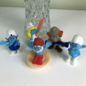 Smurf-Set-Of-McDonalds-Figurines-By-Peyo-2011-and-2013-Lot-A1