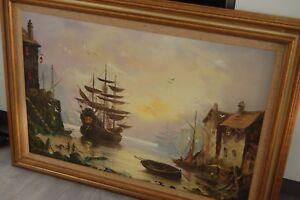 Vintage-John-Corcoran-oil-on-canvas