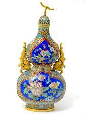 Chinese Cloisonne Vase in Kürbis Form China 20. Jahrhundert