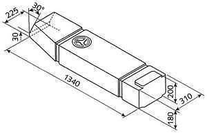 Deposito-Agua-VW-T3-60L-Exterior-Bajos-1340x310x180-Gris-Oscuro-Syncro-Westfalia