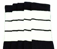 "22"" KNEE HIGH BLACK tube socks with WHITE stripes style 5 (22-154)"