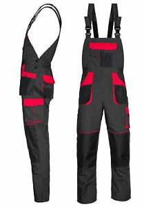 REGNO Unito-nuove tute a bretelle da Uomo Pantaloni Da Lavoro Pantaloni Ginocchio Pad Multi Tasca