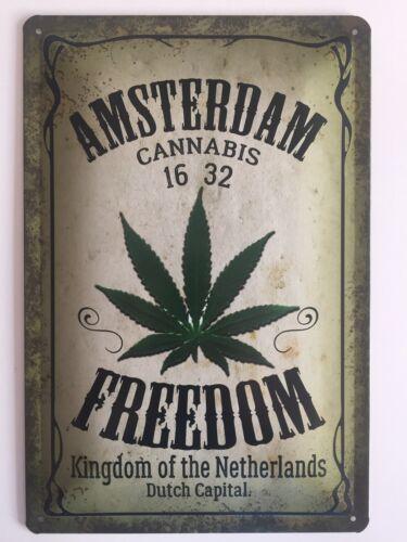 Blechschild 30 X 20 cm Amsterdam Freedom