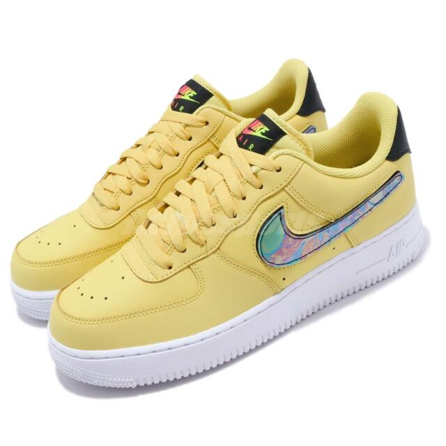 size 7 cheap for discount large discount Nike Air Force 1 07 LV8 Yellow Pulse Swoosh Mens Casual Shoes CI0064-700