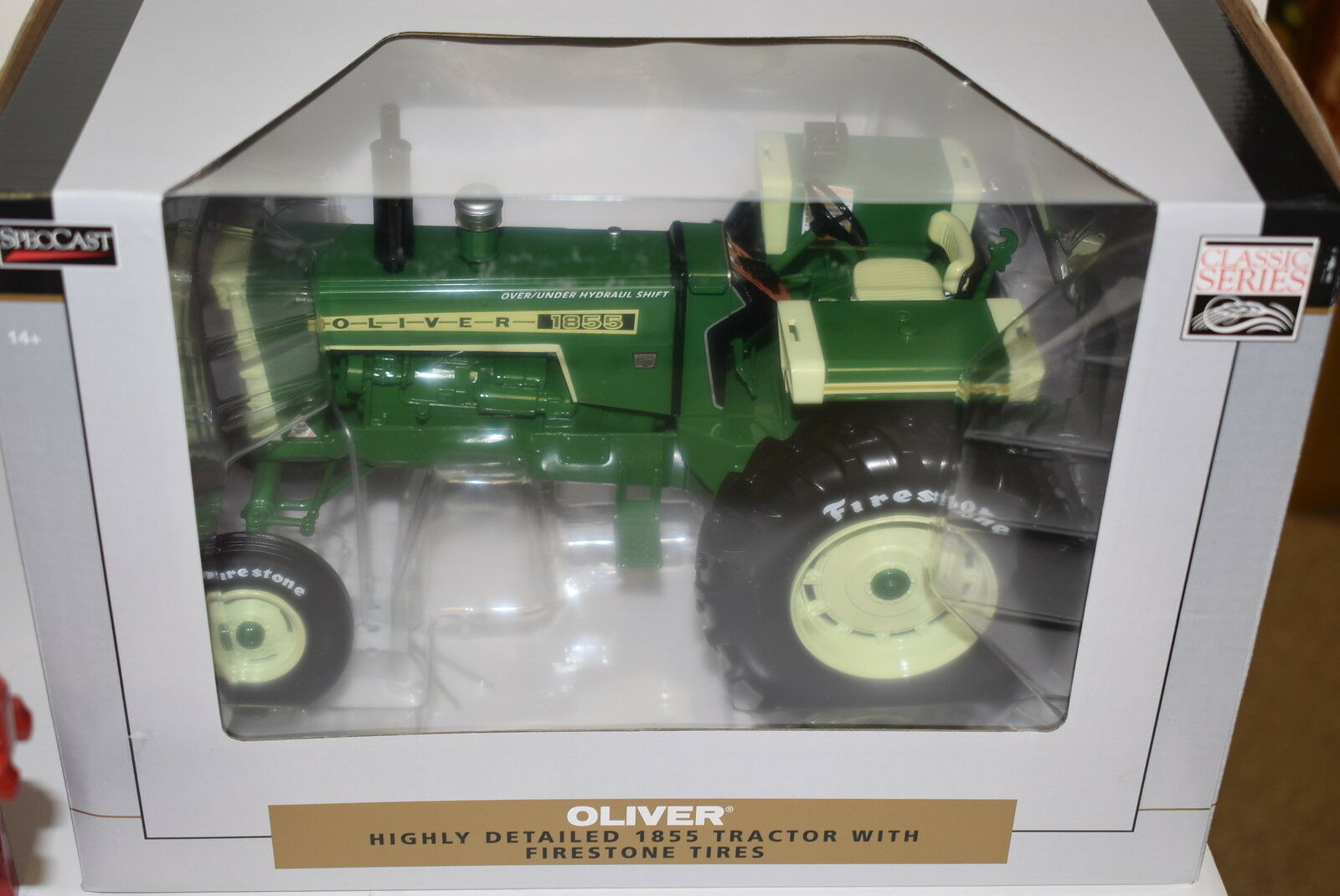 barato 1 16 Oliver 1855 1855 1855 Tractor con   Amplia Frontal y Firestone Neumáticos Nuevo en  Descuento del 70% barato