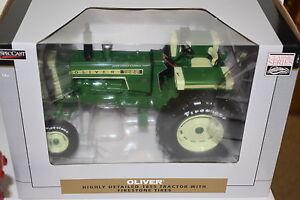 1/16 Oliver 1855 Tracteur W / Large Avant Et Firestone Pneus Neuf Emballé Spec