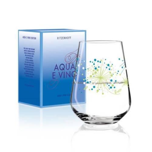 Trinkglas AQUA E VINO grün Véronique Jacquart 2018 Ritzenhoff Wasserglas