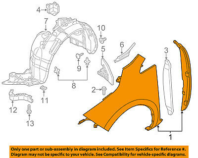 Front Fender Quarter Panel Driver Side LH Fits 13-15 Sentra NI1240206 F31013SGAA
