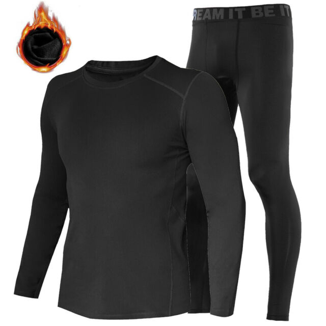 New Winter Thermal Mens Baselayer Long Sleeves Shirt Armour Compression Apparel