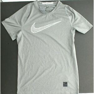 Details about Nike Pro Big Kids Boys Short Sleeve Fitted Breathable Dri Fit Training Top Shirt