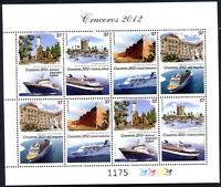 URUGUAY 2012 - SHIPS - KLEINBOGEN Complete Set MNH VF