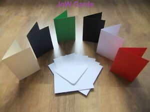 Pack-of-50-Christmas-A6-Card-Blanks-White-Envelopes