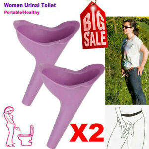 3x Portable Female Women Ladies She Urinal Urine Wee Funnel Camping Travel