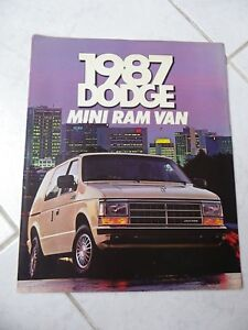Dodge-Mini-RAM-Furgoneta-1987-Catalogo-Folleto-Prospecto-Comercial-Sales