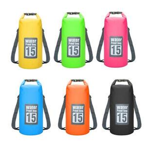 5L 10L 20L Waterproof Dry Bag Storage Dry Sack Hiking Camping Kayaking Fishing