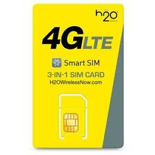 H2O Wireless 3-in-1 SIM Kit 4G LTE Preloaded First Month $40 Free Prefunded