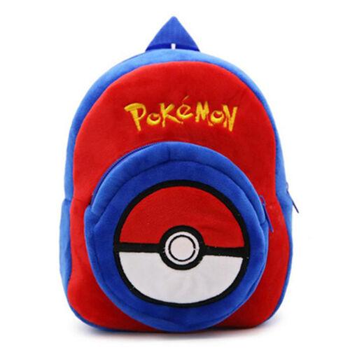 Toddler Kids Boys Girls Mini Backpack Pokemon Plush Shoulder School Bag Rucksack