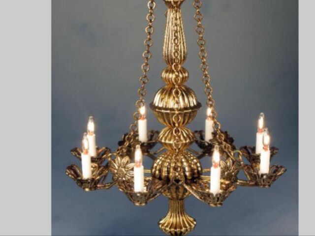 "Dollhouse Miniature Lighting Electrical CHANDELIER ""METROPOLITAN"""