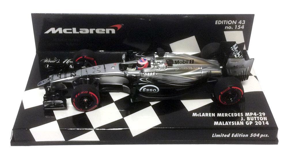 grandes ahorros Minichamps McLaren MP4-29 malayo GP 2014-Jenson Button Escala 1 1 1 43  presentando toda la última moda de la calle