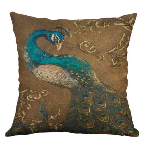 "18/"" Vintage Phoenix Pillow Case Cotton Linen Throw Sofa Home Decor Cushion Cover"