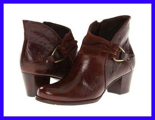 consegna veloce 10.5 WW Donna  stivali  CINNAMON    WALKING CRADLES Elite Marrone Leather Suede WIDE  liquidazione