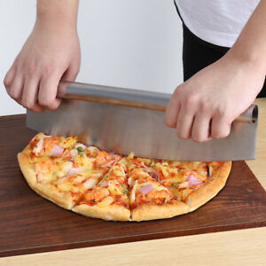 14-034-Stainless-Steel-PIZZA-CUTTER-Rocker-Knife-Blade-With-Cover-US