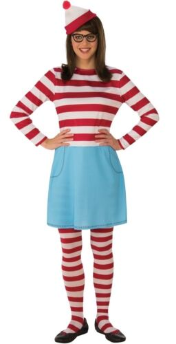 Where/'s Waldo Wenda Adult Women/'s Deluxe Costume With Hat /& Glasses Dress Rubies