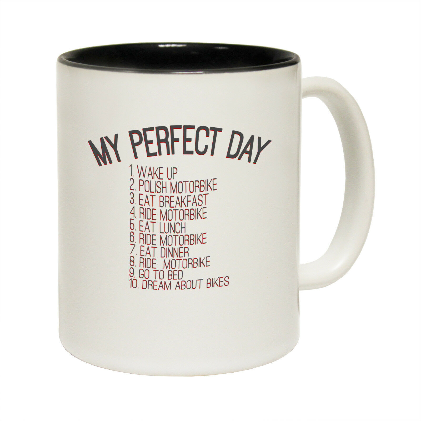 Funny Coffee Mugs Love One Women And Several Motorbikes Gift Giant Novelty Mug Mugs