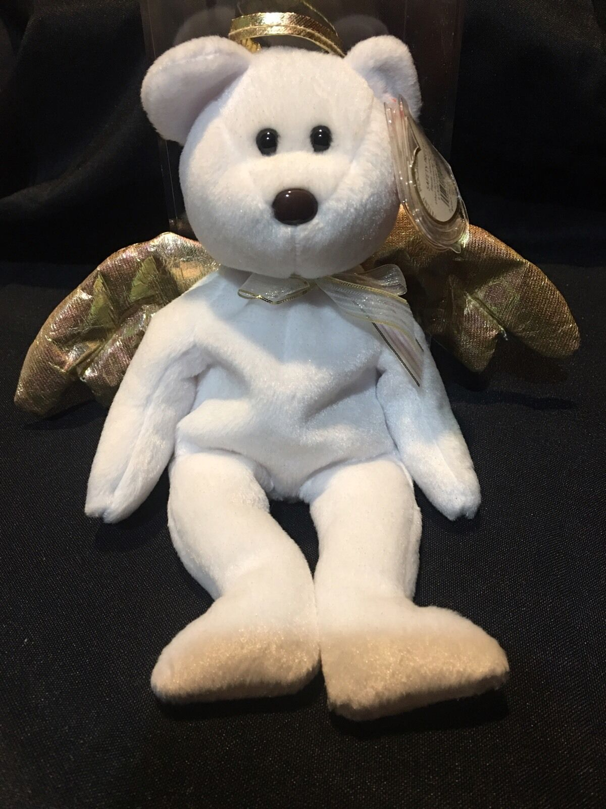 Ty Ty Ty Beanie Baby  HALO 2 the Angel Bear   MINT with MINT TAGS  RETIRED   NEW  5e6a60