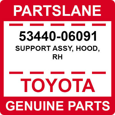 RH 53440-69026 5344069026 Genuine Toyota SUPPORT ASSY HOOD