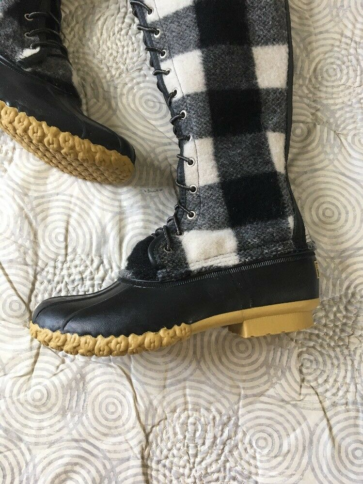 LL Duck Bean Signature Wool Tall Duck LL Stiefel Out of Production Buffalo Plaid Sz 9 NEW 74c594