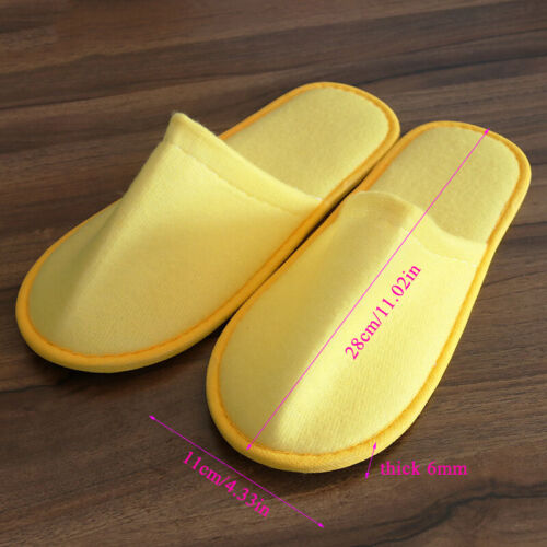 Mens Women Disposable Slippers Comfortable Hotel Travel Spa Shoes Home Flip Flop