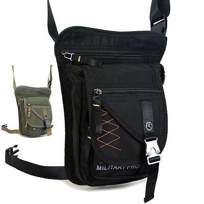 Men Sport travel motorcycle Drop Leg Fanny pack Waist bag Shoulder Messenger bag