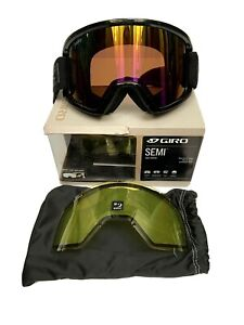 GIRO-SEMI-Goggles-Adult-Medium-Extra-Lens-Ski-Snowboard-Rose-Rainbow-Lens-NEW