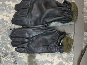 Canadian-Military-Surplus-Leather-Gloves-LARGE-inludes-wool-liners-amp-bonus-pair