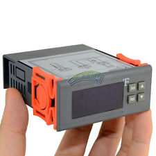 12V LCD Fahrenheit Temperature Controller Sensor Thermostat -58 to230F Cool heat