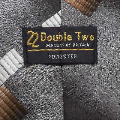 Rispettoso Vintage Tie Cravatta Da Uomo Ampia Retro Moda Double Two Marrone- Non-Stireria