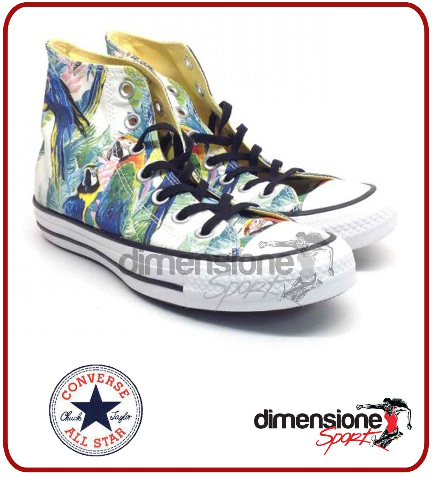 SCARPE 3,5 CONVERSE ALL STAR ALTE fantasia TG 36 US 3,5 SCARPE PRINT hi AMAZON 152707C 030501