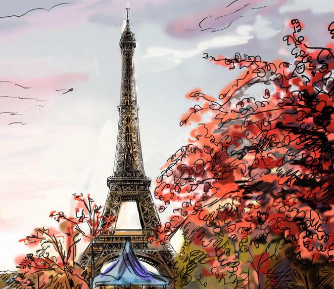 3D Torre fogliame Parete Murale Foto Carta da parati immagine sfondo muro stampa