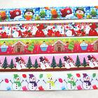 "5YARDS 7/8"" Grosgrain Ribbon Merry Christmas Santa X'mas Decor Craft Mix"